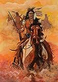 XuFan Abstrakt Indianer Feder Pferd Ölgemälde Leinwand