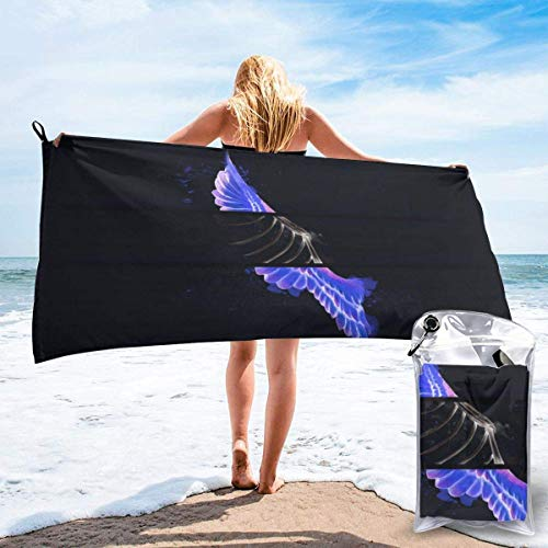 shenguang Sand Free Beach Towels, Microfiber Portable Compact Bath Towels, Feather Quick Dry Super Lightweight Towel Blanket with A Carrying Bag