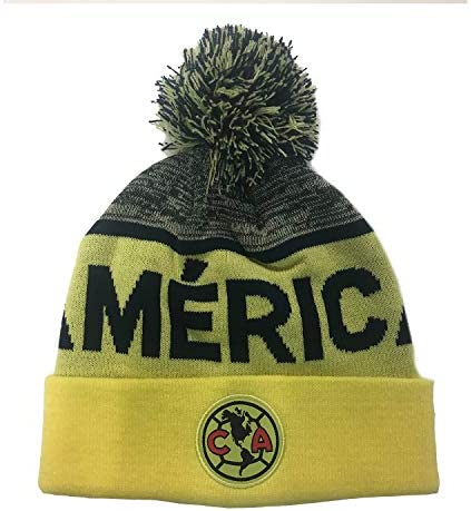 Team Colors Bracelet amer007 Club America Aguilas Mexico Soccer Set Beanie Skull Cap Hat and Scarf Reversible