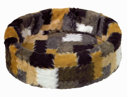 Nobby pluche bed voor honden en katten, 40 cm, Patchwork