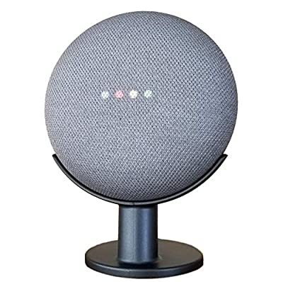 Mount Genie Google Home Mini Pedestal: Improves Sound Visibility and Appearance - Cleanest Mount Holder Stand for Google Mini - Designed in USA (Charcoal) from Mount Genie