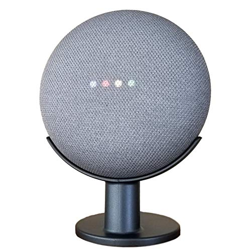 Mount Genie Pedestal for Nest Mini (2nd Gen) and Google Home Mini (1st Gen) | Improves Sound and Appearance | Cleanest Mount Holder Stand for Mini (Charcoal)