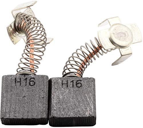 Escobillas de carbón Buildalot Specialty ca-07-80963 para Hitachi Martillo H 65-7x17x17 mm - Con resorte, cable y conector - Reemplaza partes 974611Z, 999044, 999074 & 999081Z