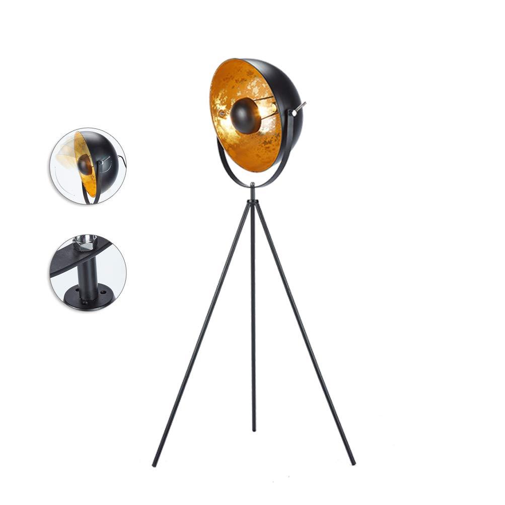 Design Lampe De Position 140 cm RETRO MOBILE noir argent Trépied Salon