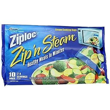 ZIPLOC ZIP N STEAM BAG-MEDIUM  Pack of 2