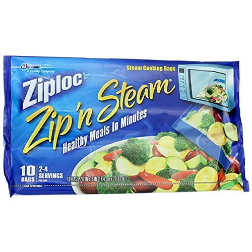 ZIPLOC Zip N STEAM Bag-Medium (Pack of 2)