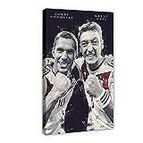 Lukas Podolski und Mesut Ozil Poster Fußballlegenden