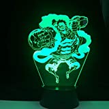 lampara 3D Pared Luces de Engranajes Luces navideñas 16 Cambios de Color Interruptor táctil y Remoto Navidad