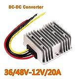 Xennos Voltage Reducer Converter Regulator DC 36V/48V Step-down To 12V 20A For Golf Cart #247209 - (Plug Type: Universal)