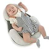 Toddler Bed Baby Lounger Portable Baby Bed Baby Pillow Baby Head Shaping Pillow for Flat...
