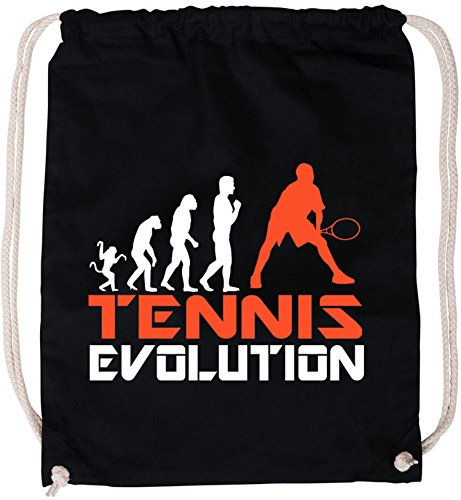 EZYshirt® Tennis Evolution Baumwoll Stoffbeutel