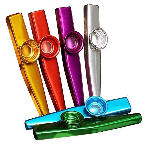 FILWO 6 Stück Metall Kazoos Musikinstrument Aluminiumlegierung Metall Kazoo Kids Set EIN guter Begleiter Tolles Geschenk für Kinder Musikliebhaber