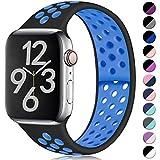 Hamile Compatible avec Apple Watch Bracelet 42mm 44mm, Bicolore Bracelet de Sport en...