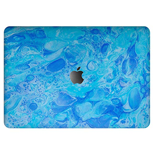 Vonna Vinyl Decal Skin for Apple MacBook Pro 16' 2019 Pro 13' 2020 Retina 15' Air 13' 2018 Mac Air 11' Mac 12 Cover Soapy Water Art Bubbles Texture Print Protective Classy Sticker Blue Laptop t0276