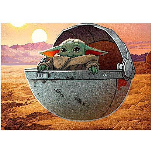 HYLLVC 1000 Puzzles für Erwachsene Baby Yoda: Star Wars 1000 Stück Puzzle Movie Characters Familienspaßspiele, Entspannungs- und Meditationshobbys (38x26cm)