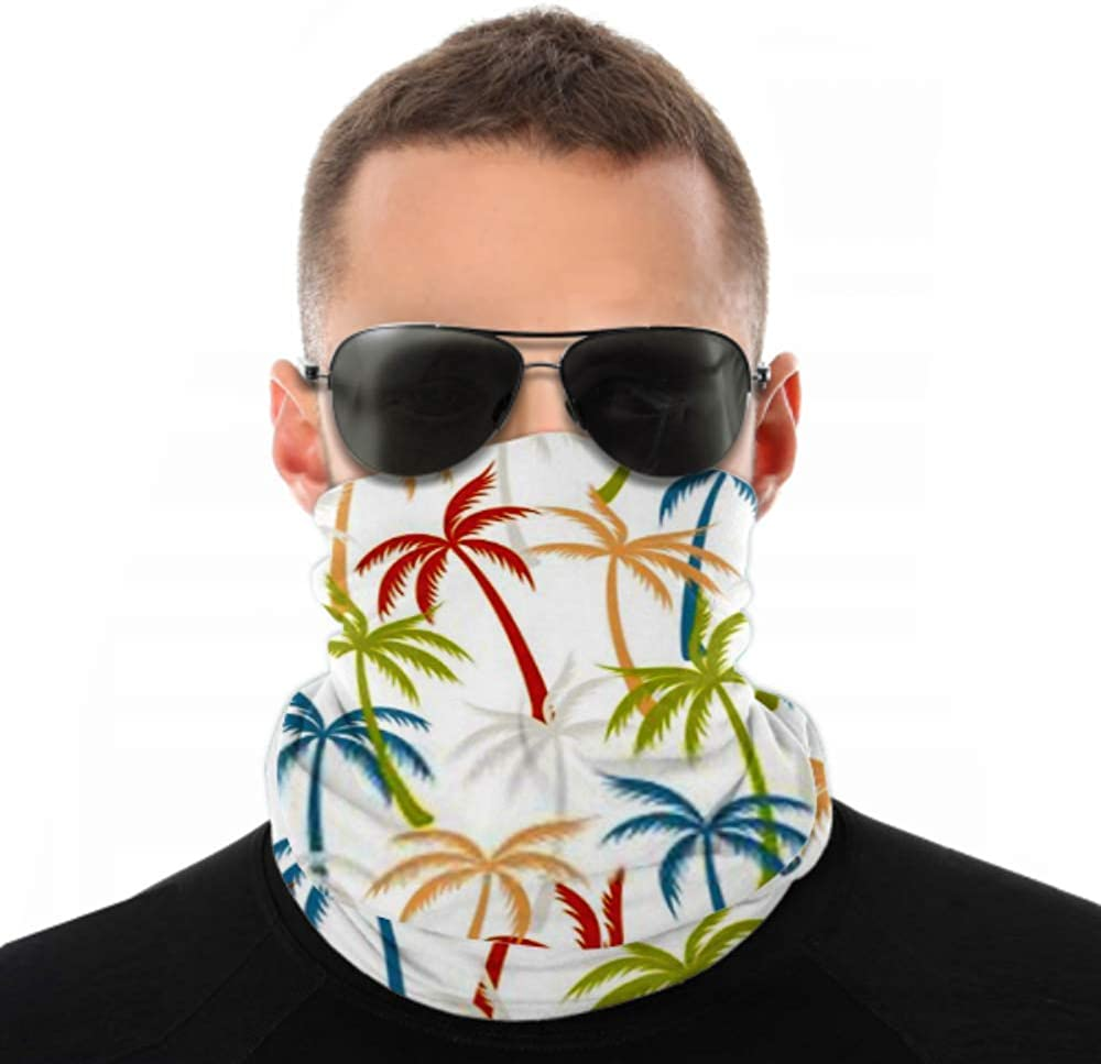 Headbands For Men Women Neck Gaiter, Face Mask, Headband, Scarf Coconut Palm Tree Pattern Textile Seamless Turban Multi Scarf Double Sided Print Sport Headbands For Sport Outdoor