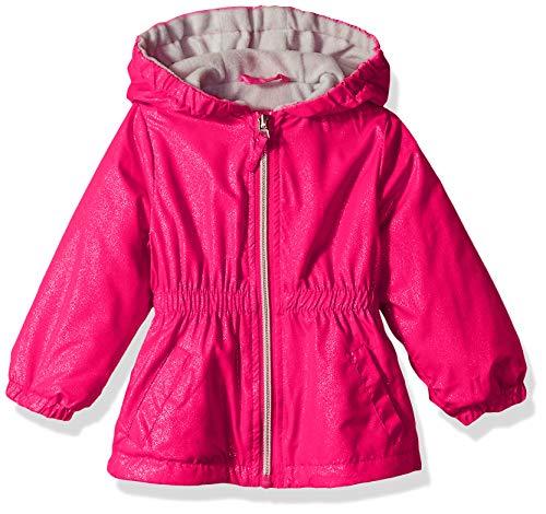 Pink Platinum Baby-Mädchen Polar Fleece Anorak, Rosa Pfau, 12 Monate