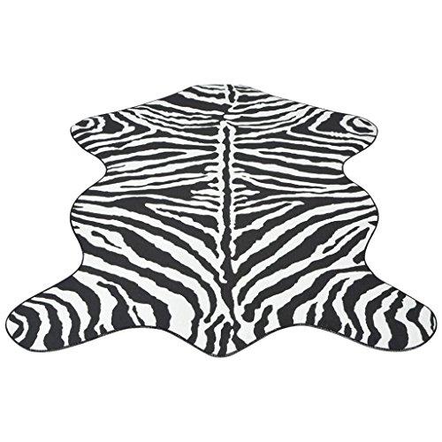 vidaXL Teppich Zebra-Druck 110 x 150 cm