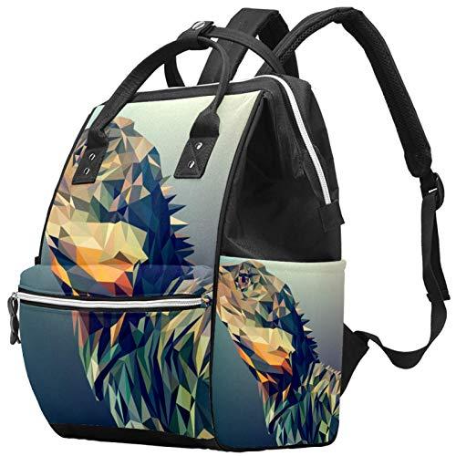 Mochila de viaje de ocio escolar con patrón de pintura abstracta, mochila multifunción para pañales con correa ajustable para hombres, mujeres, niñas y niños