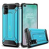 J&D Compatible para Huawei Honor V30 Funda/Huawei Honor V30 Pro Funda, Protección Pesada [Armadura Delgada] [Doble Capa] Híbrida Resistente Funda Protectora y Robusta para Huawei Honor V30 Pro