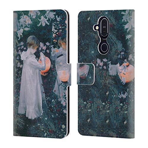 Officiële Masters Collection Anjer, Lelie, Lelie, Roos Schilderijen 2 Lederen Book Portemonnee Cover Compatibel voor Nokia 8.1 / X7