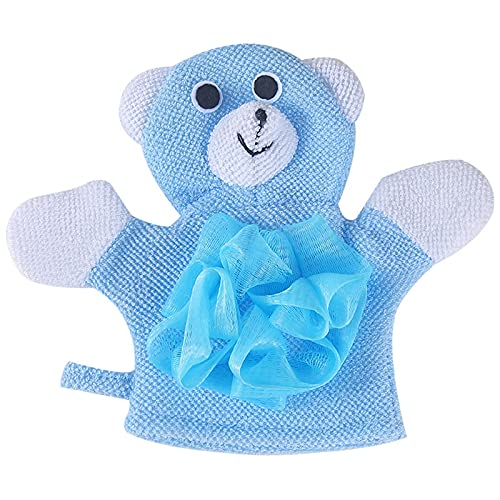 HYMD Shower sponge 1 stks Dieren Douche Was Doek Handdoeken Leuke Kinderen Baby Shower Badhanddoek Bad Body Scrub Glove Baden (Color : Sky Blue)