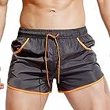 Uomo Pantaloni Maschi Travel Short Pantaloncini da Spiaggia Costumi da Bagno Elegante Retro Maschio Mare Piscina Pantalone da Nuoto,Boxer da Uomo con Cuciture Stringate Costume da Bagno Bikini