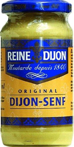 Reine de Dijon Original Dijon-Senf, scharf, aus braunen Senfkörnern, fein gemahlen, 200 ml, 3er Pack (3 x 200 ml)