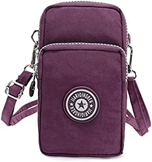 Multifunctional Mini Zipper Waterproof Nylon 3 Layers Storage Crossbody Wrist Shoulder Bag Mobile Phone Pouch Belt Handbag Armband Case for iPhone 7 6/6S Plus / 5S/5C / Samsung S8 S7 S6 Edge+