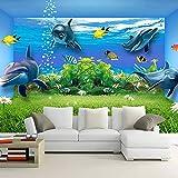 XHXI Mural de acuario, papel tapiz grande sin costuras personalizado, sala de estar, dormitorio, Hotel, TV, Fondo, revestim papel Pintado de pared tapiz Decoración dormitorio Fotomural-350cm×256cm