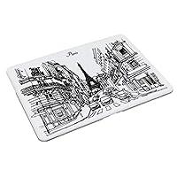 パリ スケッチ フランス エッフェル塔 手描き ファッション 黒と白 観光 に対応 MacBook Air ケース 13インチ 薄型 排熱口設計 耐衝撃性 全面保護 ハードケースmacbook air 13/New pro touchに対応