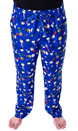 Peanuts Men's Good Grief! Allover Character Pattern Loungewear Sleep Pajama Pants (3X-Large)