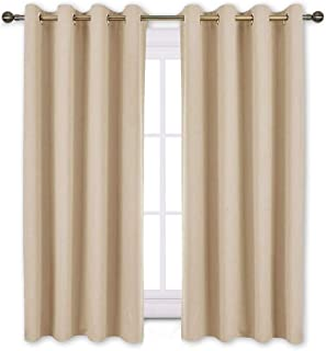 NICETOWN Bedroom Blackout Curtains and Drapes - Window Treatment Thermal Insulated Solid Grommet Blackout Draperies for Be...