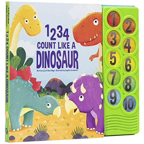 1234 Count Like a Dinosaur - Counting Sound Book - PI Kids (Play-A-Sound)