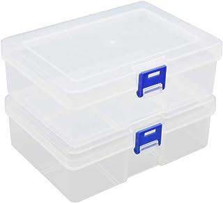 عبوة من 2 صندوق مشابك بلاستيكية شفافة من شركة كيدكود، صندوق حاوية لتخزين وتنظيم أدوات ألوان الشمع وصندوق إمدادات نموذجي صغ...