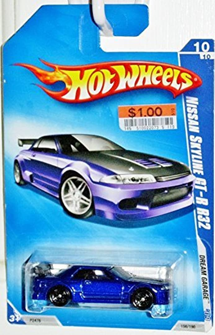 尋ねる明るい言語Hot Wheels 2009-156 Dream Garage BLUE 2001 Nissan Skyline GT-R R32 1:64 Scale by Hot Wheels