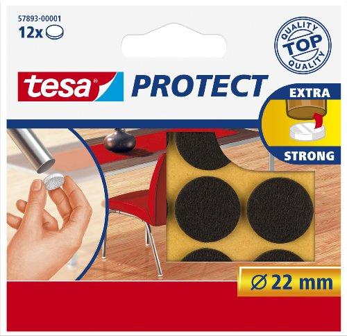Tesa 578930000101 Rondelle Feutre Anti rayure rond Diamètre 22 mm Brun