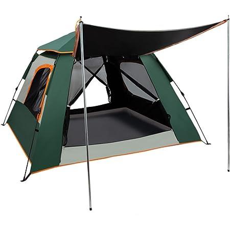 REAVEE ワンタッチテント ツーリング 折りたたみ 超軽量 キャンプ用品 アウトドア 3-4人用 UVカット 設営簡単 通気 防水 蚊帳 防虫対策