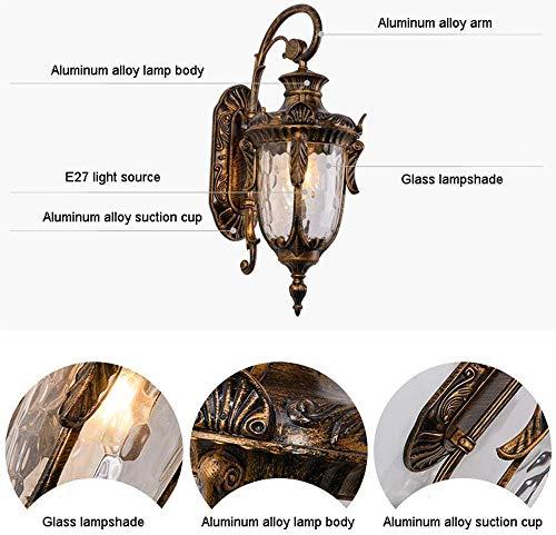 Wandlamp glas spiegel voorverlichting klassieke verlichting tuin lantaarn glazen lamp wandverlichting buitenverlichting wandverlichting wandverlichting Altura: 60 cm