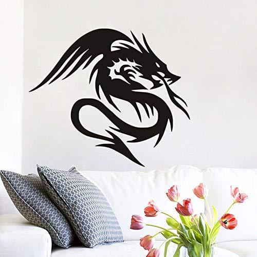 Muurstickers citaten en gezegden Chinese draak in legende woonkamer slaapkamer jongen tieners kamer Muraue 21x16.8 inches