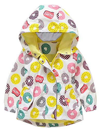 Baby Boys Girls Rain Cloud Print Hooded Coat Jackets Windproof Sunscreen Cloak Tops (4-5Years/Tag120, White)