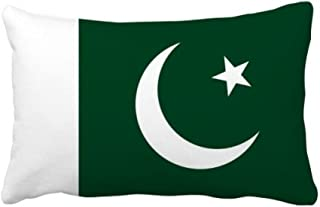 DIYthinker Pakistan National Flag Asia Country Throw Lumbar Pillow Insert Cushion Cover Home Sofa Decor Gift