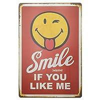 Smile If You Like メタルポスター壁画ショップ看板ショップ看板表示板金属板ブリキ看板情報防水装飾レストラン日本食料品店カフェ旅行用品誕生日新年クリスマスパーティーギフト