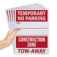 """Smartsign """"Temporary No Parking - Construction Zone, Tow-Away"""" 書き込みサイン 