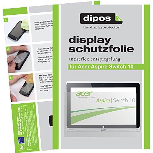 dipos I 2X Schutzfolie matt kompatibel mit Acer Aspire Switch 10 Folie Bildschirmschutzfolie