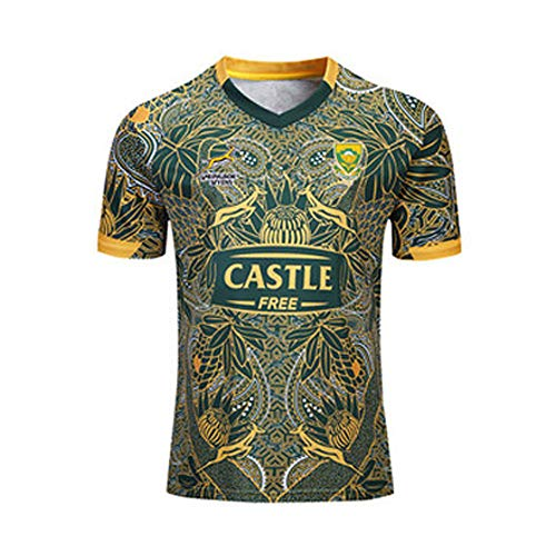 Rugby Jersey, South Africa 100th Anniversary Edition, Springbok, 7s, Men's Competition Training Football Jersey S-XXXL