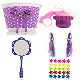 Bikes on Hikes Girl's Bicycle Decorations Set - Fun Bicycle Decor w/Beads, Rear