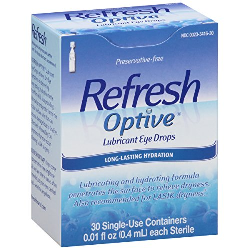 Refresh Optive Schmiermittel Augentropfen Single Use Containers- 30 ct, 2er-Pack
