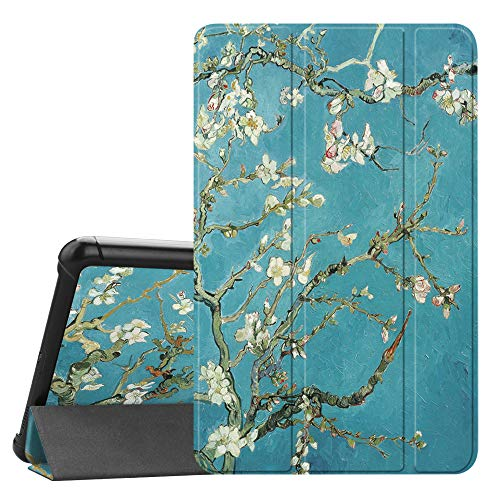 Fintie Slim Case for Samsung Galaxy Tab A 8.0 2018, Ultra Thin Lightweight Tri-Fold Stand Cover for Samsung Tab A 8.0 Inch 2018 Tablet Model SM-T387 Verizon/Sprint/T-Mobile/AT&T, Blossom