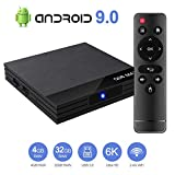 Android 9.0 TV Box Smart Media Box 4GB RAM 32GB ROM H6 Quadcore WIFI 2.4G Ethernet 2USB 3.0 Set Top Box...